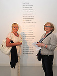 Betty Campbell and Bernie Gartlan pictured at the opening of the Song of Amergin art exhibition in the Highlanes gallery. Photo: www.pressphotos.ie