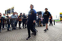 Alex Davies and the rest of the Bath Rugby team arrive for the match. Heineken Champions Cup match, between Wasps and Bath Rugby on October 20, 2018 at the Ricoh Arena in Coventry, England. Photo by: Patrick Khachfe / Onside Images