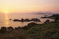 France/Corse/Corse-du-Sud/2A/Verghia: Coucher de soleil sur le golfe d'Ajaccio