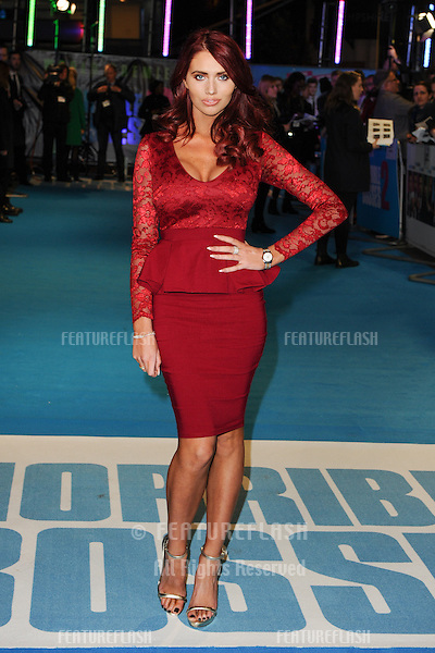 "Amy Childs arriving for the ""Horrible Bosses 2"" premiere at the odeon West End, Leicester Square, London. 12/11/2014 Picture by: Steve Vas / Featureflash"