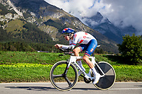 Picture by Alex Whitehead/SWpix.com - 25/09/2018 - Cycling - UCI 2018 Road World Championships - Innsbruck-Tirol, Austria - Junior Men's Individual Time Trial - Joe Laverick of Great Britain.