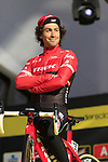 Fabio Felline (ITA) Trek-Segafredo team on stage at sign on before the 101st edition of the Tour of Flanders 2017 running 261km from Antwerp to Oudenaarde, Flanders, Belgium. 26th March 2017.<br /> Picture: Eoin Clarke | Cyclefile<br /> <br /> <br /> All photos usage must carry mandatory copyright credit (&copy; Cyclefile | Eoin Clarke)