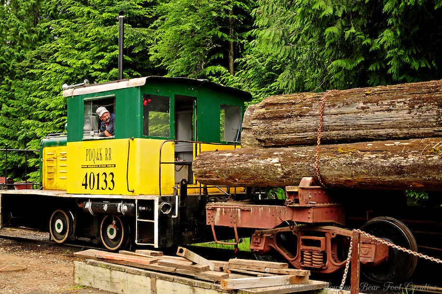Camp 6 Logging Exhibit, Point Defiance Park, Tacoma, Washington, USA