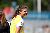 Cary, North Carolina  - Sunday May 21, 2017: Sofia Huerta prior to a regular season National Women's Soccer League (NWSL) match between the North Carolina Courage and the Chicago Red Stars at Sahlen's Stadium at WakeMed Soccer Park. Chicago won the game 3-1.