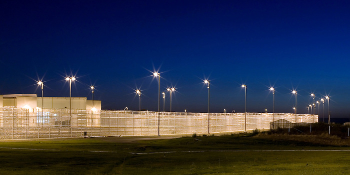 26 September 2007: Walla Walla State Prison_HDR PERIMETER FENCE
