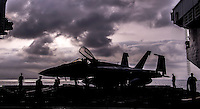 The Eisenhower Aircraft Carrier in the Mediterranean to counteract the ISIS