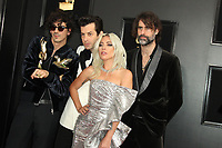 10 February 2019 - Los Angeles, California - Mark Ronson, Andrew Wyatt, Lady Gaga, Anthony Rossomando. 61st Annual GRAMMY Awards held at Staples Center. Photo Credit: AdMedia