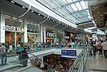 Westfield Stratford City shopping centre interior, London, England