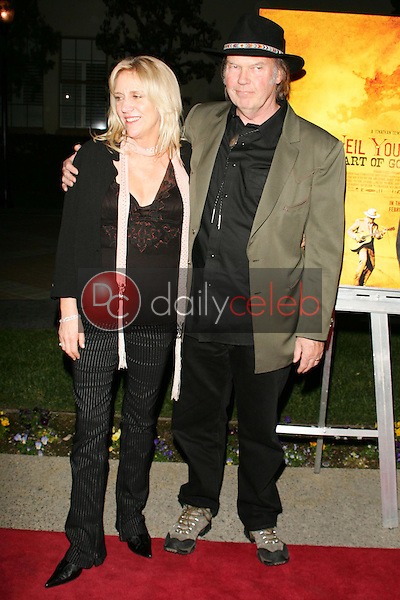 """Pegi Young and Neil Young<br />at the premiere of """"Neil Young: Heart of Gold"""". Paramount Theater, Los Angeles, CA 02-07-06<br />Dave Edwards/DailyCeleb.com 818-249-4998"""
