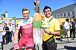 Marcel Kittel (GER) Team Katusha Alpecin with presentation of Senba-Tsuru Criterium de Saitama at sign on before the start of Stage 5 of the 2018 Tour de France running 204.5km from Lorient to Quimper, France. 11th July 2018. <br /> Picture: ASO/Pauline Ballet | Cyclefile<br /> All photos usage must carry mandatory copyright credit (&copy; Cyclefile | ASO/Pauline Ballet)