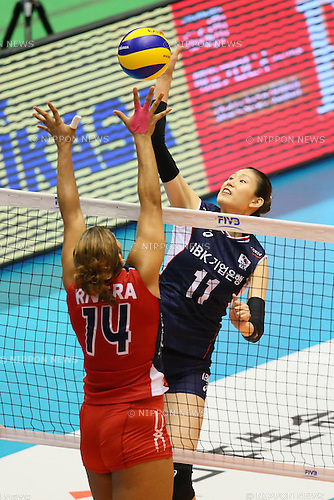 Kim Suji (KOR), <br /> MAY 22, 2016 - Volleyball : <br /> Women's Volleyball World Final Qualification <br /> for the Rio de Janeiro Olympics 2016 <br /> match between South Korea 0-3 Dominican Republic <br /> at Tokyo Metropolitan Gymnasium, Tokyo, Japan. <br /> (Photo by YUTAKA/AFLO SPORT)