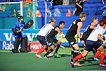 The Hague, Netherlands, June 01: Arun Panchia #24 of New Zealand compete for a loose ball during the field hockey group match (Men - Group B) between the Black Sticks of New Zealand and Korea on June 1, 2014 during the World Cup 2014 at GreenFields Stadium in The Hague, Netherlands. Final score 2:1 (1:0) (Photo by Dirk Markgraf / www.265-images.com) *** Local caption ***