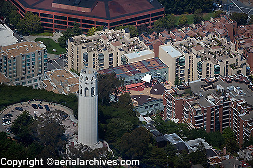 aerial photograph Coit Tower San Francisco, California