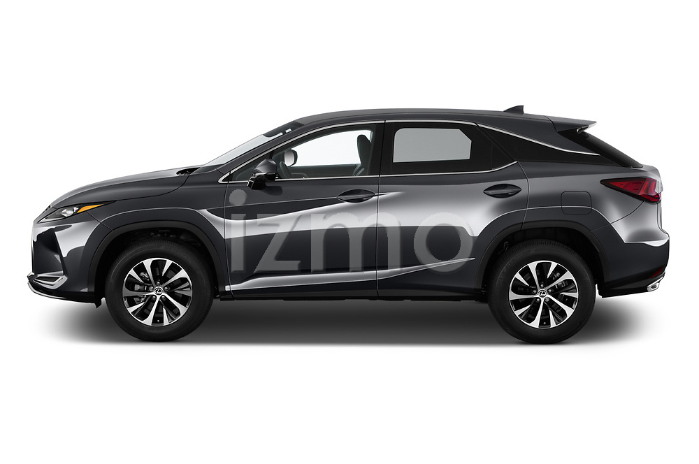 Car driver side profile view of a 2020 Lexus RX 350 5 Door SUV