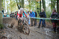 Michael Vanthourenhout (BEL/Sunweb-Napoleon Games) splashing around<br /> <br /> Superprestige Gavere 2014