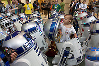 ORLANDO, FLORIDA - AUG 26: Star Wars fans take part in the 6th bi-annual Star Wars Celebration at The Orange County Convention Center on Sunday, August 26, 2012 in Orlando, Florida. (Photo by Landon Nordeman)