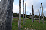Calander poles at Der Glauberg Celtic site, Hessen Germany