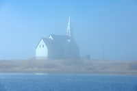Church in fog on Long Lake<br />Longlac<br />Ontario<br />Canada