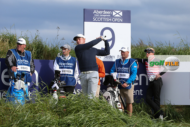 Oliver Fisher (ENG) during Round One of the 2016 Aberdeen Asset Management Scottish Open, played at Castle Stuart Golf Club, Inverness, Scotland. 07/07/2016. Picture: David Lloyd | Golffile.<br /> <br /> All photos usage must carry mandatory copyright credit (&copy; Golffile | David Lloyd)