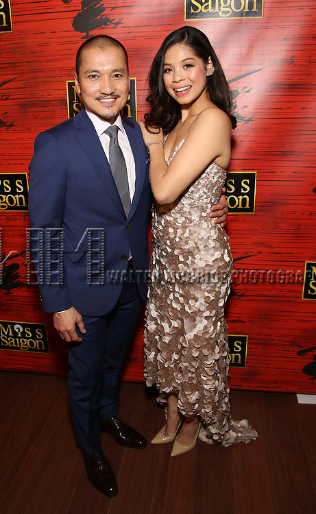 "Jon Jon Briones and Eva Noblezada attends The Opening Night After Party for the New Broadway Production of ""Miss Saigon"" at Tavern on the Green on March 23, 2017 in New York City"