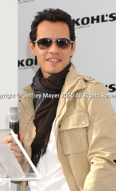WEST HOLLYWOOD, CA. - November 18: Marc Anthony   announces a new partnership with Kohl's at The London Hotel on November 18, 2010 in West Hollywood, California.