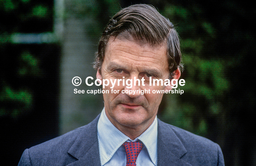 James Hamilton, Duke of Abercorn, 5th Duke, Baronscourt Castle, Newtownstewart, Co Tyrone, N Ireland, 19850713DA2.<br />