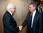 Brussels - Belgium, June 05, 2012 -- MdB Frank-Walter STEINMEIER (le), chairman of the SPD's parliamentary group in the Bundestag (German Parliament), for political talks in Brussels; here, with Guenther (Günther) OETTINGER (ri), European 'Energy' Commissioner -- Photo: © HorstWagner.eu