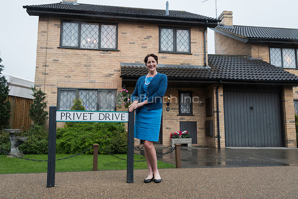 Inside the set of Number four, Privet Drive at Warner Bros. Studio Tour London, The Making of Harry Potter, including Fiona Shaw, who played the infamous Aunt Petunia character, on set at on Number four, Privet Drive doorstep and inside the living room surrounded by hundreds of Harry&rsquo;s Hogwarts letters.<br />