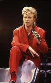 DAVID BOWIE - performing live on the Glass Spider Tour at Wembley Stadium London UK - 19 Jun 1987.  Photo credit: George Bodnar Archive/IconicPix