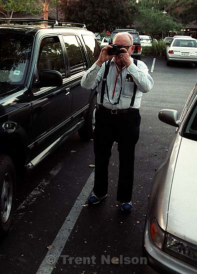 Torvall Nelson with camera. Actually shot in Danville<br />