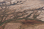 Aerial - Neales River that brings water to Lake Eyre when it floods. This is still within the Anna Creek Station property.