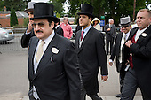 Prince Mohammed Bin Nawaf, Saudi Arabian ambassador to the UK, enters the Royal Enclosure at Ascot racecourse.