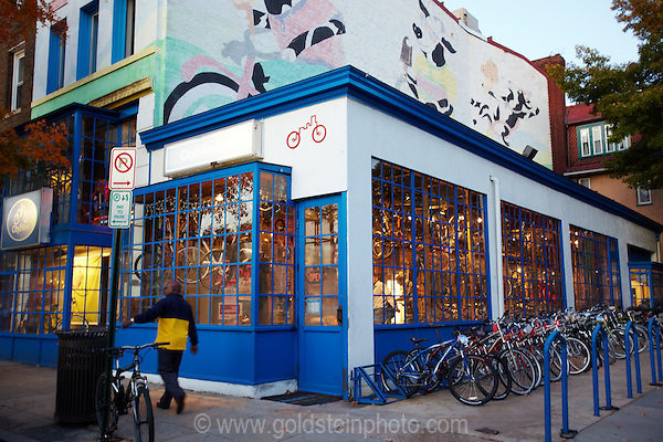 Adams Morgan is a neighborhood in Washington DC. There are numerous restaurants and clubs there.
