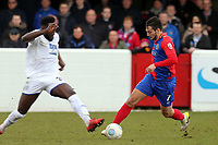 Emmanuel Monthe of Tranmere Rovers and Luke Howell of Dagenham  during Dagenham & Redbridge vs Tranmere Rovers, Vanarama National League Football at the Chigwell Construction Stadium on 10th March 2018