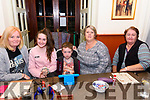 Enjoying the Threshing Cancer Bingo Night held in the Manor Inn, Killorglin on Friday were l-r: M aria Naughton, Amy and Lee Warren, Geraldine O'Sullivan and Marian Mahony.