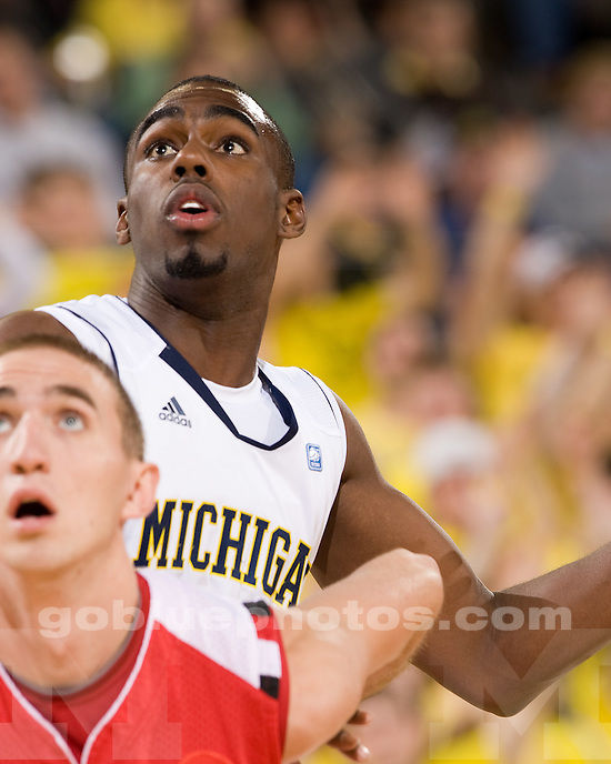 University of Michigan men's basketball 68-59 victory over Saginaw Valley State University at Crisler Arena in Ann Arbor, MI, on November 5, 2010.
