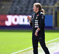 20190810 - ANDERLECHT, BELGIUM : LSK's head coach Hege Riise pictured during the female soccer game between the Belgian RSCA Ladies – Royal Sporting Club Anderlecht Dames  and the Norwegian LSK Kvinner Fotballklubb ladies , the second game for both teams in the Uefa Womens Champions League Qualifying round in group 8 , saturday 10 th August 2019 at the Lotto Park Stadium in Anderlecht  , Belgium  .  PHOTO SPORTPIX.BE for NTB NO | DAVID CATRY