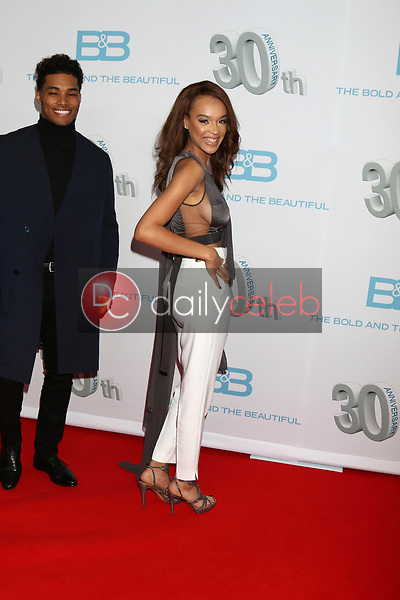 """Rome Flynn, Reign Edwards<br /> at the """"The Bold and The Beautiful"""" 30th Anniversary Party, Clifton's Downtown, Los Angeles, CA 03-18-17<br /> David Edwards/DailyCeleb.com 818-249-4998"""
