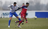 Adel Taatabt of QPR and Matthew Watson of Chicago Fire