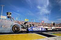 May 31, 2013; Englishtown, NJ, USA: NHRA top fuel dragster driver Antron Brown during qualifying for the Summer Nationals at Raceway Park. Mandatory Credit: Mark J. Rebilas-
