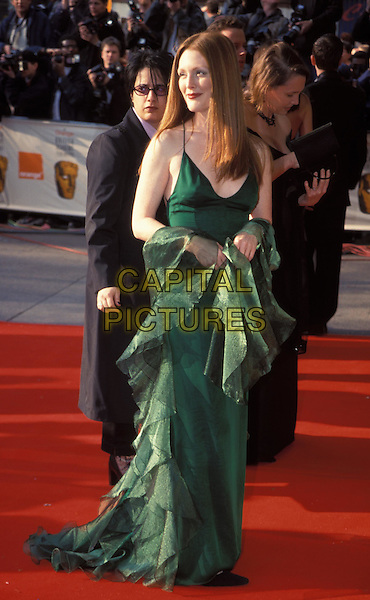 JULIANNE MOORE..BAFTA Awards 2000..Ref: 9512..green dress, silk, satin, full length..www.capitalpictures.com..©Capital Pictures..