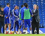 Chelsea's Guus Hiddink meets the players<br /> <br /> Barclays Premier League- Chelsea vs Sunderland - Stamford Bridge - England - 19th December 2015 - Picture David Klein/Sportimage