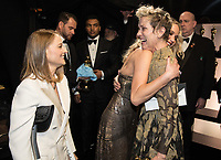 Jodi Foster and Jennifer Lawrence congratulate Frances McDormand backstage after presenting McDormand with the Oscar&reg; for performance by an actress in a leading role for her work on &ldquo;Three Billboards Outside Ebbing, Missouri&rdquo; during the live ABC Telecast of The 90th Oscars&reg; at the Dolby&reg; Theatre in Hollywood, CA on Sunday, March 4, 2018.<br /> *Editorial Use Only*<br /> CAP/PLF/AMPAS<br /> Supplied by Capital Pictures