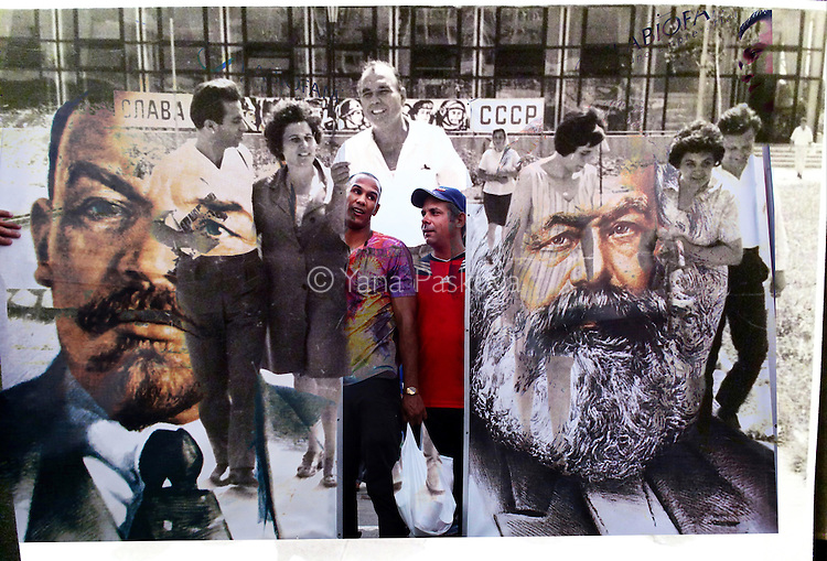 My grandfather (center,) seen walking with Romanian and Bulgarian colleagues in Bulgaria in the 1970s. The banner in the background reads &quot;Glory to the USSR.&quot; And in Cuba, participants in the First of May Labor Day parade hold posters of Russian Communist leader Vladimir Lenin and German Communist revolutionary Karl Marx. This day, known as D&Igrave;a del Trabajo, is a call for people of all nations to show support to socialism and the Cuban Revolution. While attendance is not mandatory, absences from these marches are usually noted and discouraged, and often followed with social and professional reprimand.<br />