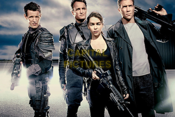 Matt Smith, Jason Clarke, Emilia Clarke, Jai Courtney<br /> in Terminator: Genisys (2015) <br /> *Filmstill - Editorial Use Only*<br /> CAP/NFS<br /> Image supplied by Capital Pictures