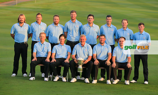 The European Team photo before Pro-Am Day of the 2016 Eurasia Cup held at the Glenmarie Golf &amp; Country Club, Kuala Lumpur, Malaysia. 14th January 2016.<br /> Picture: Eoin Clarke | Golffile<br /> <br /> <br /> <br /> All photos usage must carry mandatory copyright credit (&copy; Golffile | Eoin Clarke)