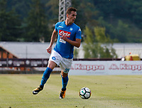 Arkadiusz Milik  of Napoli during a preseason friendly soccer match against Aunania in Dimaro's Stadium   12 July 2017