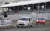 Marc _Antoine Demers at the wheel of a Nissan Micra for the Micra Cup race held at the GP3R event in Trois-Rivieres,Quebec