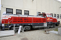 - Expo Ferroviaria alla fiera di Milano-Rho, il nuovo locomotore da manovra a trazione ibrida diesel-elettrica EffiShunter 1.000 prodotto dalla compagnia Ceka CZ Loko<br />
