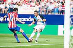 Atletico de Madrid's player Diego Godín and Deportivo de la Coruña's player Florin Andone during a match of La Liga Santander at Vicente Calderon Stadium in Madrid. September 25, Spain. 2016. (ALTERPHOTOS/BorjaB.Hojas)